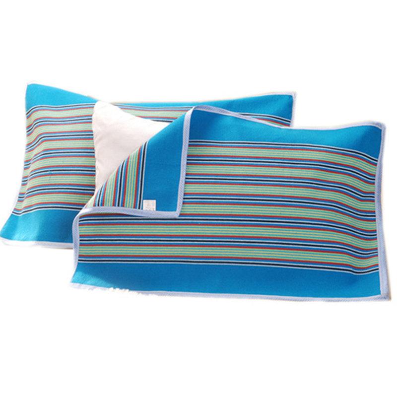 [Đặc biệt hàng ngày] [một cặp] cũ thô vải gối khăn duy nhất breathable dày chống mite mùa bông vải gối khăn