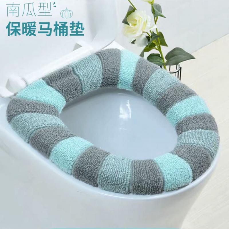 马桶坐垫家用冬季加厚毛绒马桶垫子坐便套四季通用防水坐便器垫圈