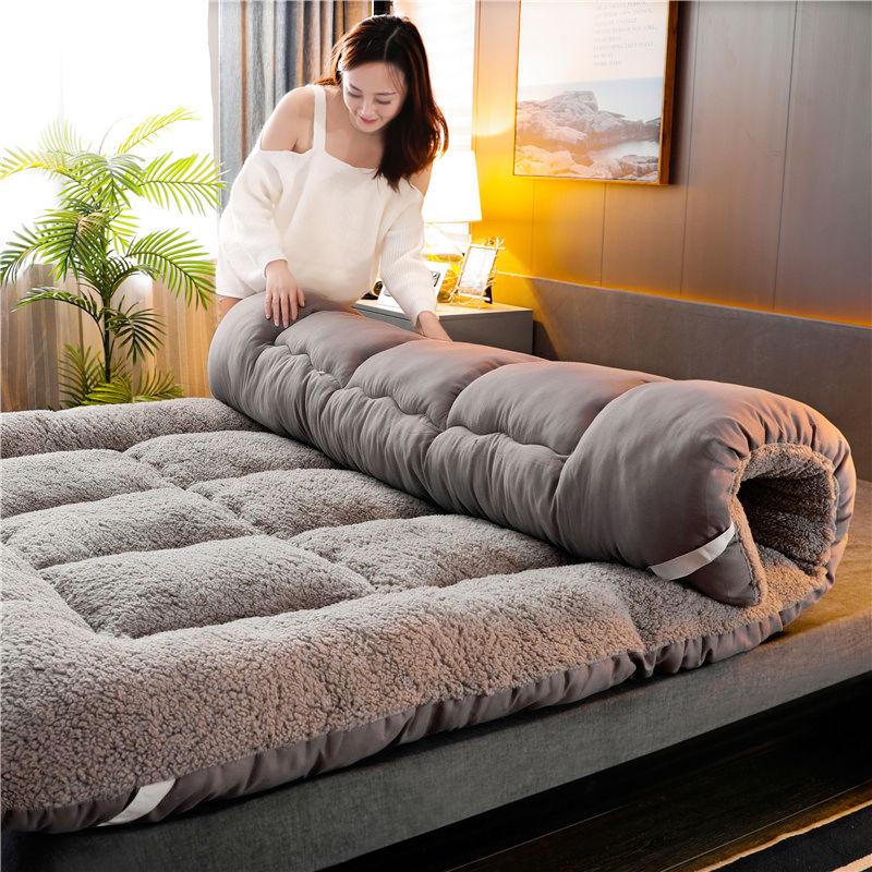 羊羔绒床垫软垫加厚家用/学生睡垫