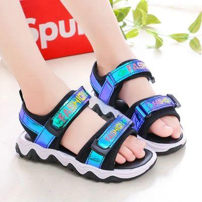 男童凉鞋2021中大童夏季时尚软底波浪凉鞋小女孩宝宝鞋儿童沙滩鞋