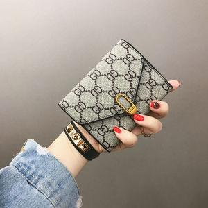 名羽女士钱包女短款三折小钱包女零钱包卡包