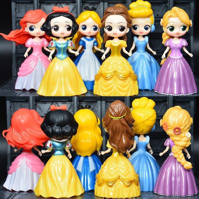 洋芭比娃娃套装白雪公主冰雪奇缘贝儿美人鱼女孩换衣生日礼物玩具
