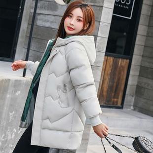 女中长款韩版时尚百搭chic棉袄
