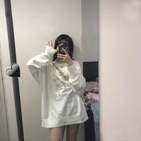 米奇卫衣女宽松时尚韩版百搭长袖T恤2019秋季新款薄款卫衣潮