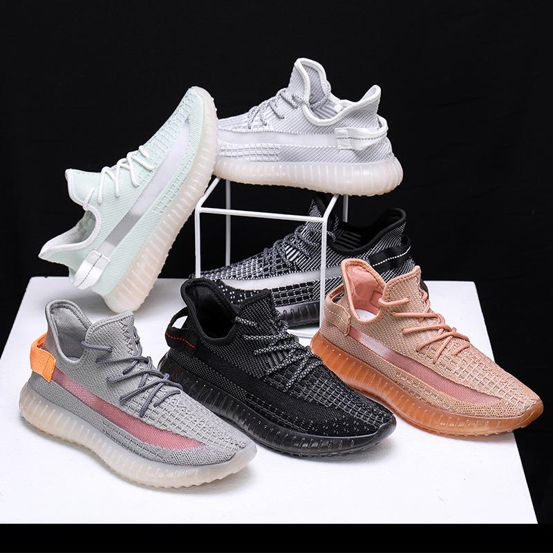 2020新款男鞋椰子鞋男天使反光飞织鞋子男透气休闲网面透气运动鞋