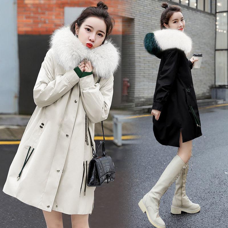 2021年大毛领女装大衣外套时尚新款可以货到付款
