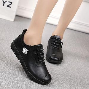 欧洲站2020女鞋新款棉鞋软底皮鞋女平跟休闲女士单鞋防滑舒适平底