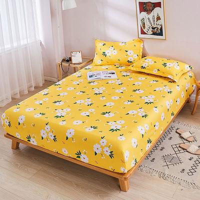 亲肤棉斜纹加厚加高款床笠单件防滑床单全包席梦思保护套防尘床罩