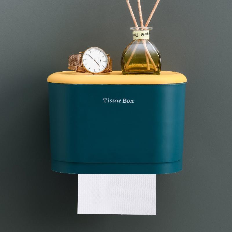 简约卫生间纸≡巾盒免打孔厕所防水抽纸¤盒卷纸筒壁挂式卫生纸置物架
