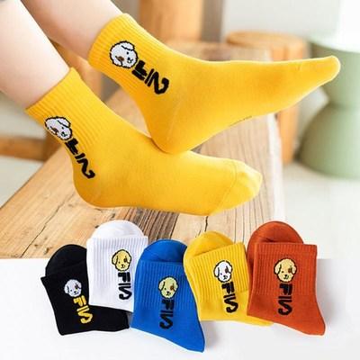 秋冬季儿童袜子男女童舒适中筒袜子柔软吸汗学生大小孩宝宝袜子