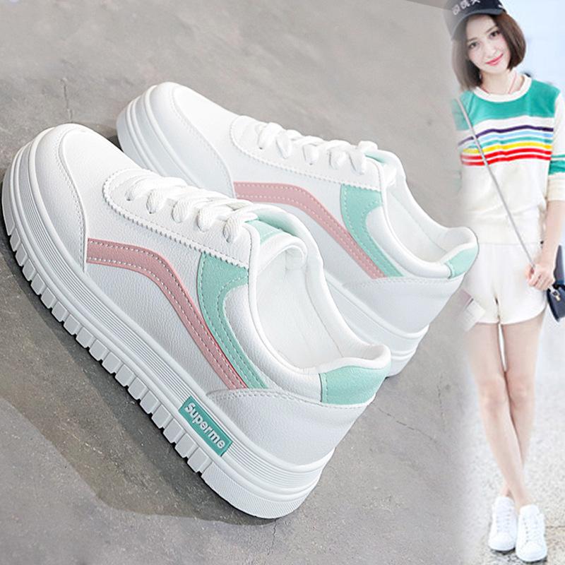 超火的老爹鞋小白鞋女2020春季新款透气女生板鞋韩版百搭休闲板鞋
