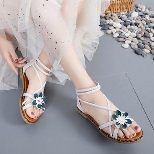 百搭凉鞋网红女鞋平底鞋仙女鞋沙滩鞋