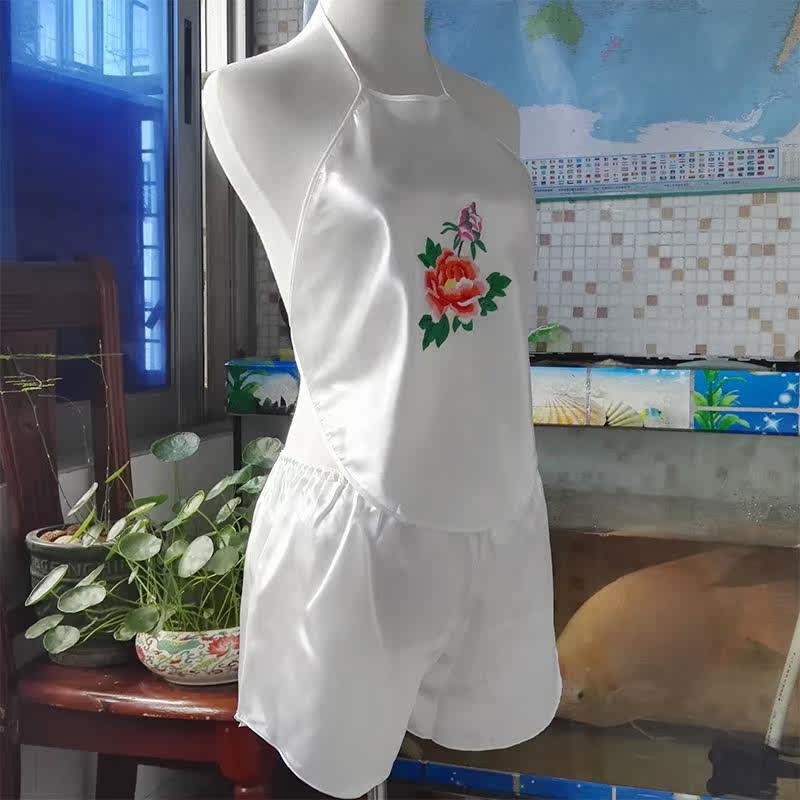 Tạp dề lady sexy dành cho người lớn đặt phong cách cổ điển tòa án cám dỗ đồ ngủ thêu tạp dề trắng đồ lót phần mỏng
