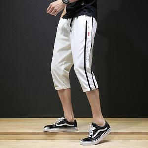 2018夏季潮男休閑七分褲 日系韓版修身短褲