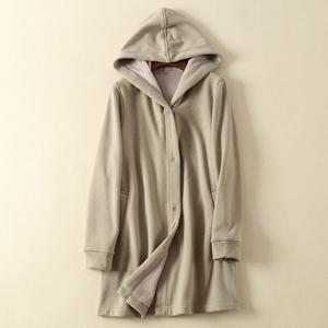 2018 cộng với nhung dày lỏng kích thước lớn bắp cải giá phụ nữ Nhật Bản dài trùm đầu áo gió mùa thu và áo khoác mùa đông phụ nữ
