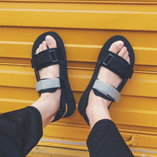 18夏季新品韩版男士休闲鞋百搭凉鞋沙滩鞋1209-X396-P35