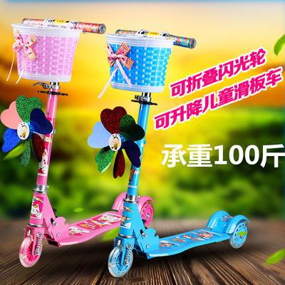 2-6 Foldable Adjustable Height Children Tri Wheel Scooter With Breaking System