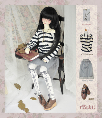 taobao agent BJD baby clothes skirt leisurely school style pleated skirt DD/SD/Luts/volks MG027 multicolor