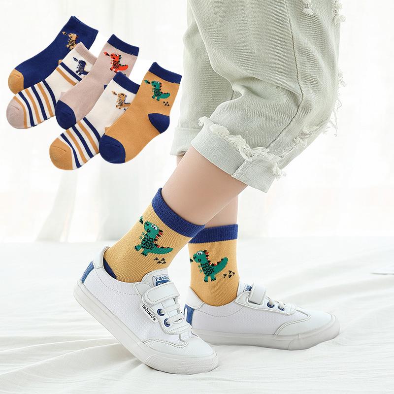 兒童襪子純棉春秋冬季3男童5女童7寶寶9男孩10男生12歲中筒15棉襪