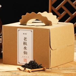 武夷山巖茶烏龍茶裝濃香老樅水仙茶葉送禮茶紙箱禮盒包480克