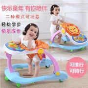 Bé tập đi bé tập đi 6 7-18 tháng chống rollover con tập đi với âm nhạc tay đẩy có thể ngồi