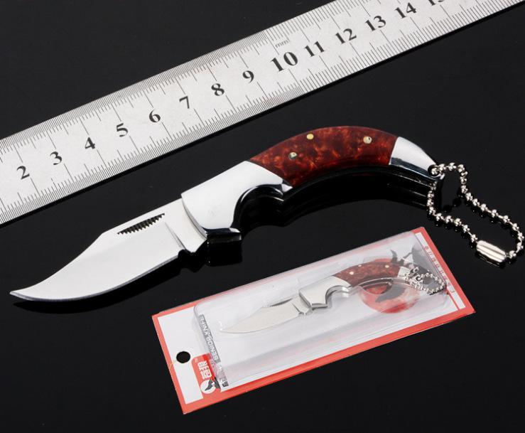 Nhà máy trực tiếp sói xanh dao ngoài trời dao gấp món quà tinh tế dao trái cây (không khóa) trên 60 ° - Công cụ Knift / công cụ đa mục đích