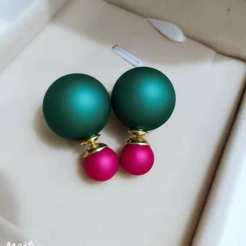 玫红+绿后珠