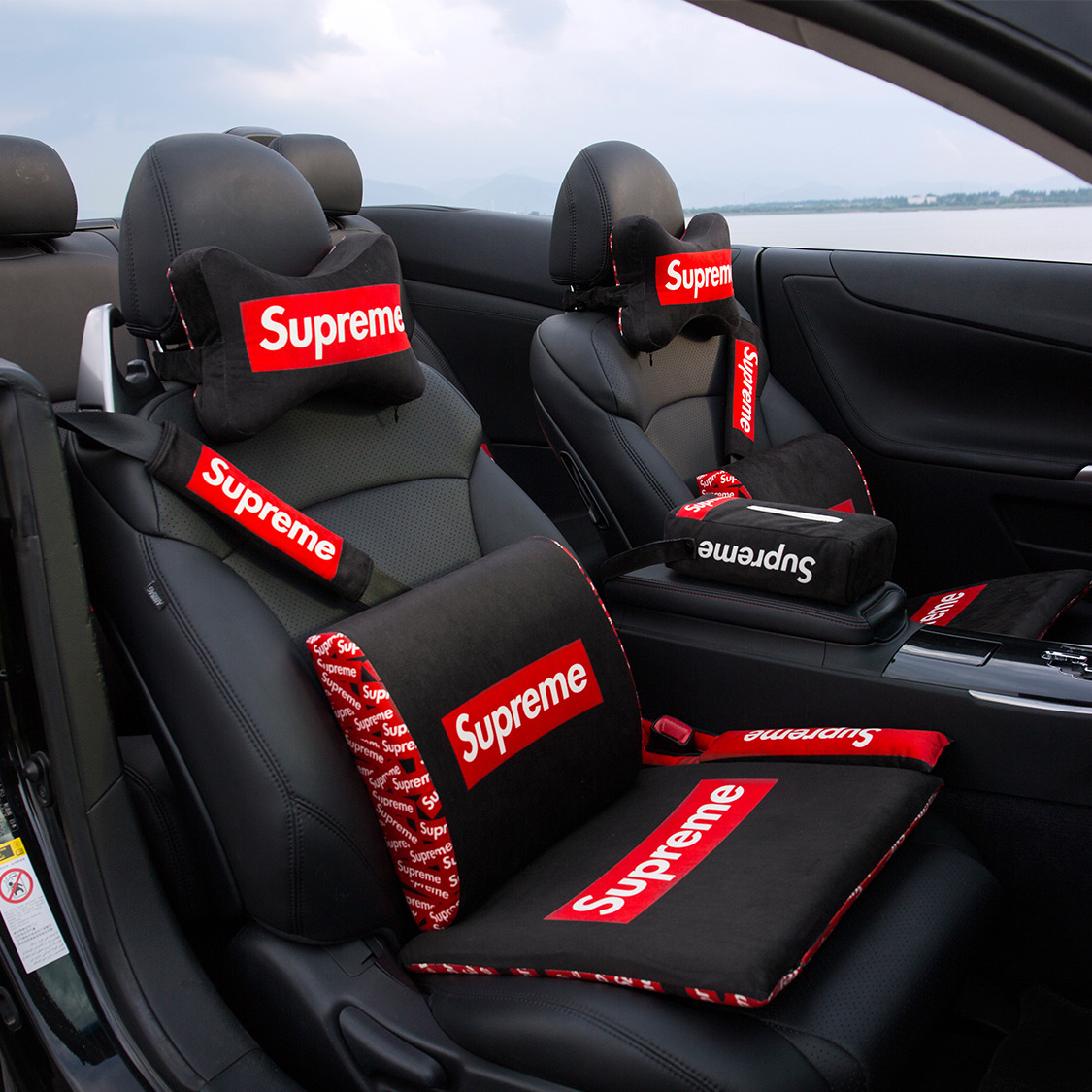 Supreme Car Headrest Neck Pillow Memory Cotton Tide Brand Bone Seat