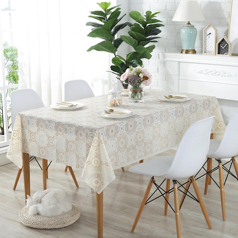 桌布布艺小清新塑料防水防烫防油免洗pvc棉麻现代简约茶几餐桌垫