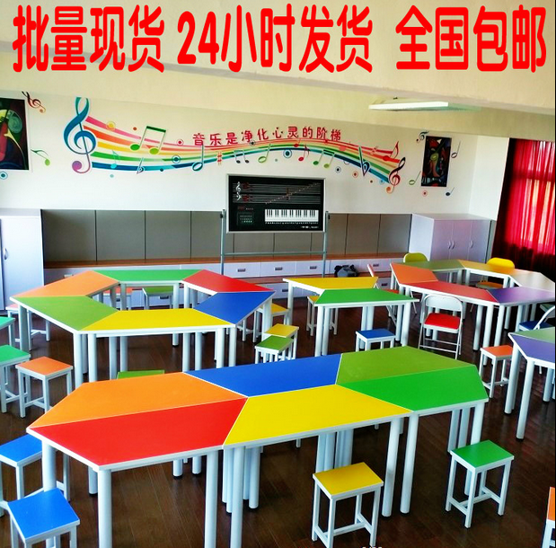Desk chair large teaching bench training desk tutoring class writing painting table painting table High School students