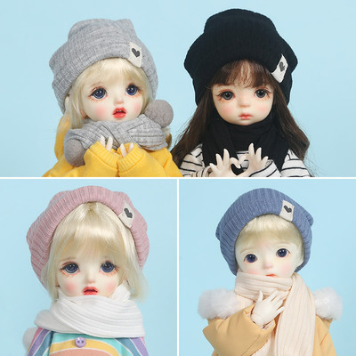 taobao agent BJD 6 points 4 points baby clothes scarf hat 1/6 yosd doll clothes big 6 points holala hat cover