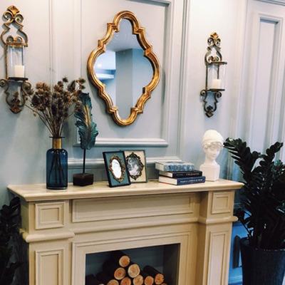 欧式田园镜复古化妆试衣镜美容卫浴镜装饰壁挂