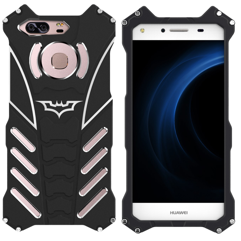 R-Just Batman Shockproof Aluminum Shell Metal Case with Custom Stent for Huawei Honor 8 & Huawei Honor V8