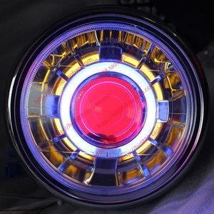 Xe máy Tianjian EN125 Vòng Ánh Sáng Đôi Ống Kính Ánh Sáng Đôi Mắt Thiên Thần Mắt Ma Quỷ Xenon Đèn Pha Lắp Ráp Biển 5Q5