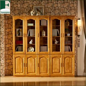 Thành đô màu xanh lá cây sức khỏe và bảo vệ môi trường gỗ tuyết tùng hai cửa ba- cửa tủ sách đồ nội thất tủ sách kết hợp đồ nội thất