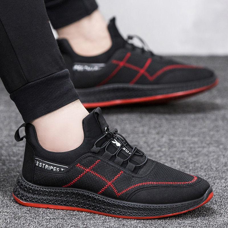 2020夏季新款鞋子男士韩版潮流时尚休闲鞋皮面防水透气百搭男鞋子