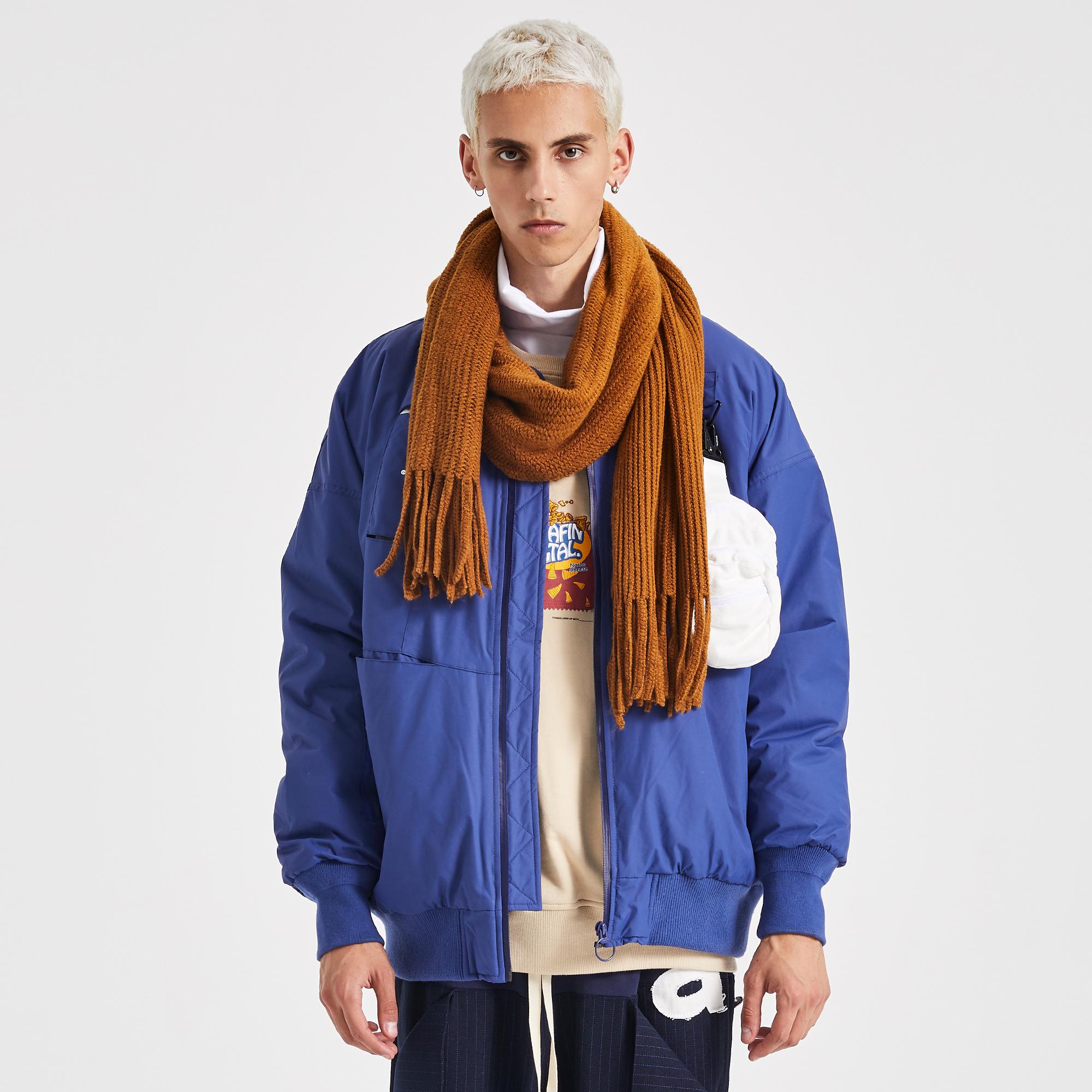 EAFINS bán giải phóng mặt bằng tăng đột biến hai mảnh áo vest nhiều chức năng áo khoác cotton màu xanh MA1 nam nữ - Bông