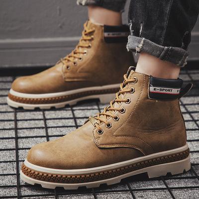 马丁靴男工装靴男士沙漠靴
