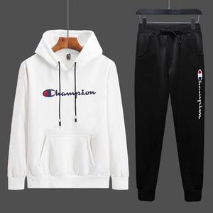 2021春秋新款潮流时尚两件套男士休闲运动服套装大码卫衣学生百搭
