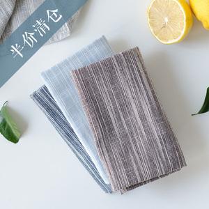 Nửa giá giải phóng mặt bằng cotton linen placemat phong cách Nhật Bản ảnh vải màu sắc đồng bằng cách nhiệt phương tây bảng mat nhiếp ảnh nền