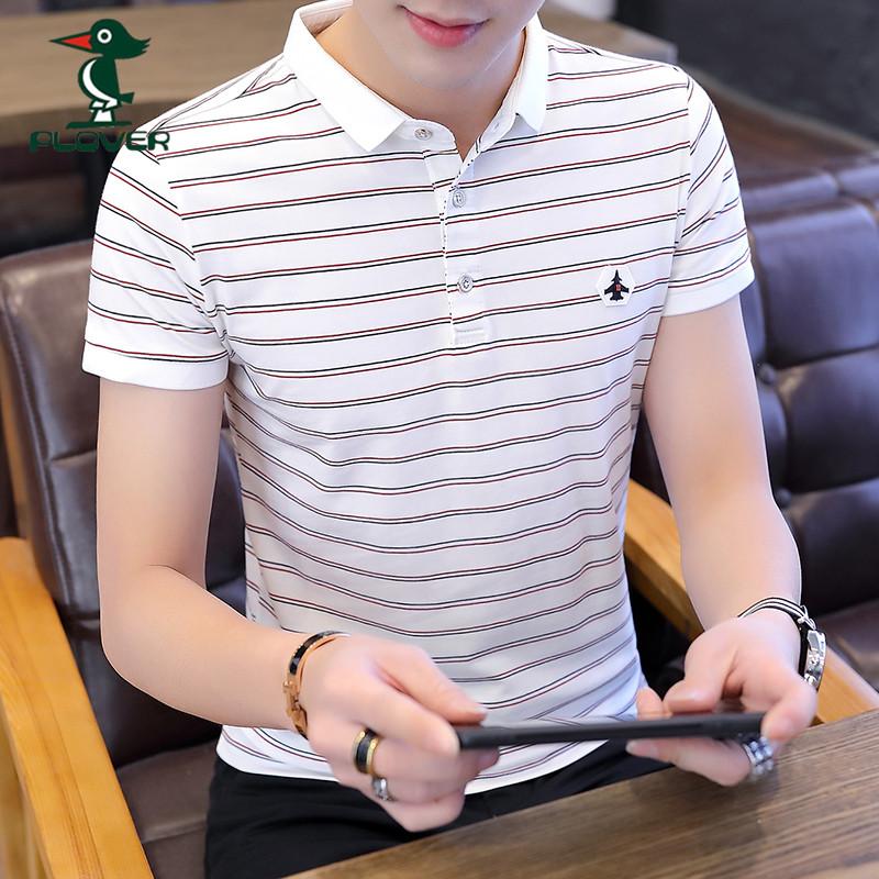 啄木鸟男士短袖t恤韩版潮流半袖Polo衫