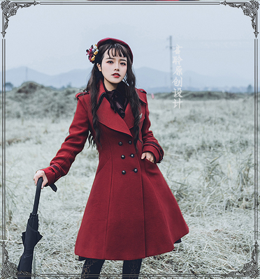 taobao agent 【Spot】Junling lolita Ancient Egypt-Eye of Horus Wool embroidered coat