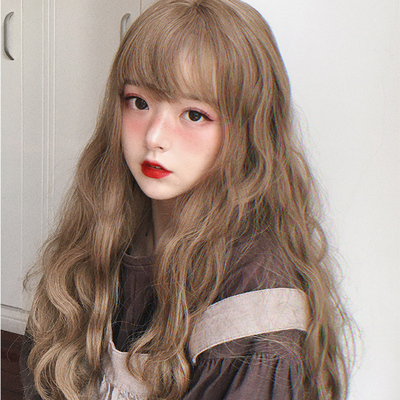 taobao agent Instant noodle roll soft girl daily + Lolita wig + doll micro roll realistic wave air bangs