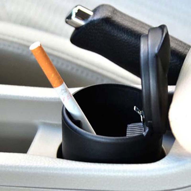 汽车烟灰缸带灯家车两用阻燃便携车载烟灰缸买2送1