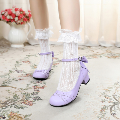 taobao agent Original lolita bow lace lace cute sweet student basic new small leather shoes