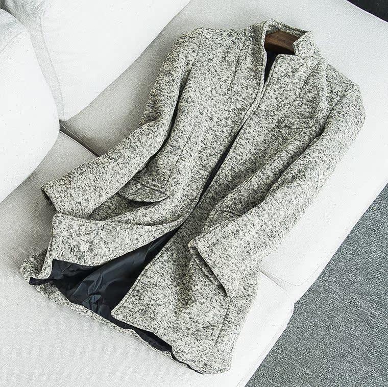 23206 mùa xuân mới nam giới và phụ nữ trung tính Hàn Quốc giản dị hoang dã áo gió dài Slim áo khoác cardigan Tháng Sáu 23