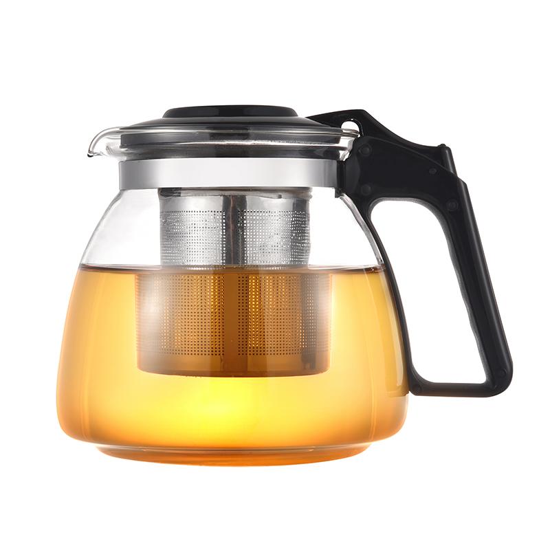 宏启 玻璃耐热茶壶过滤冲茶器(第