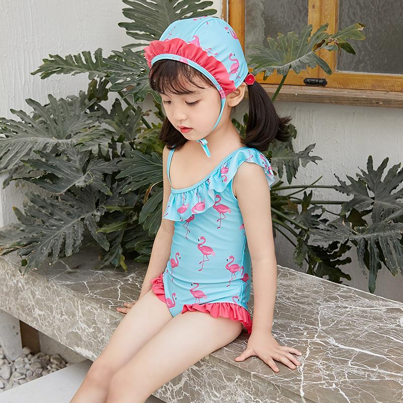 Children's swimsuit, girls' Korean swim, swimsuit, holiday quick-dry skirt one-piece swimsuit