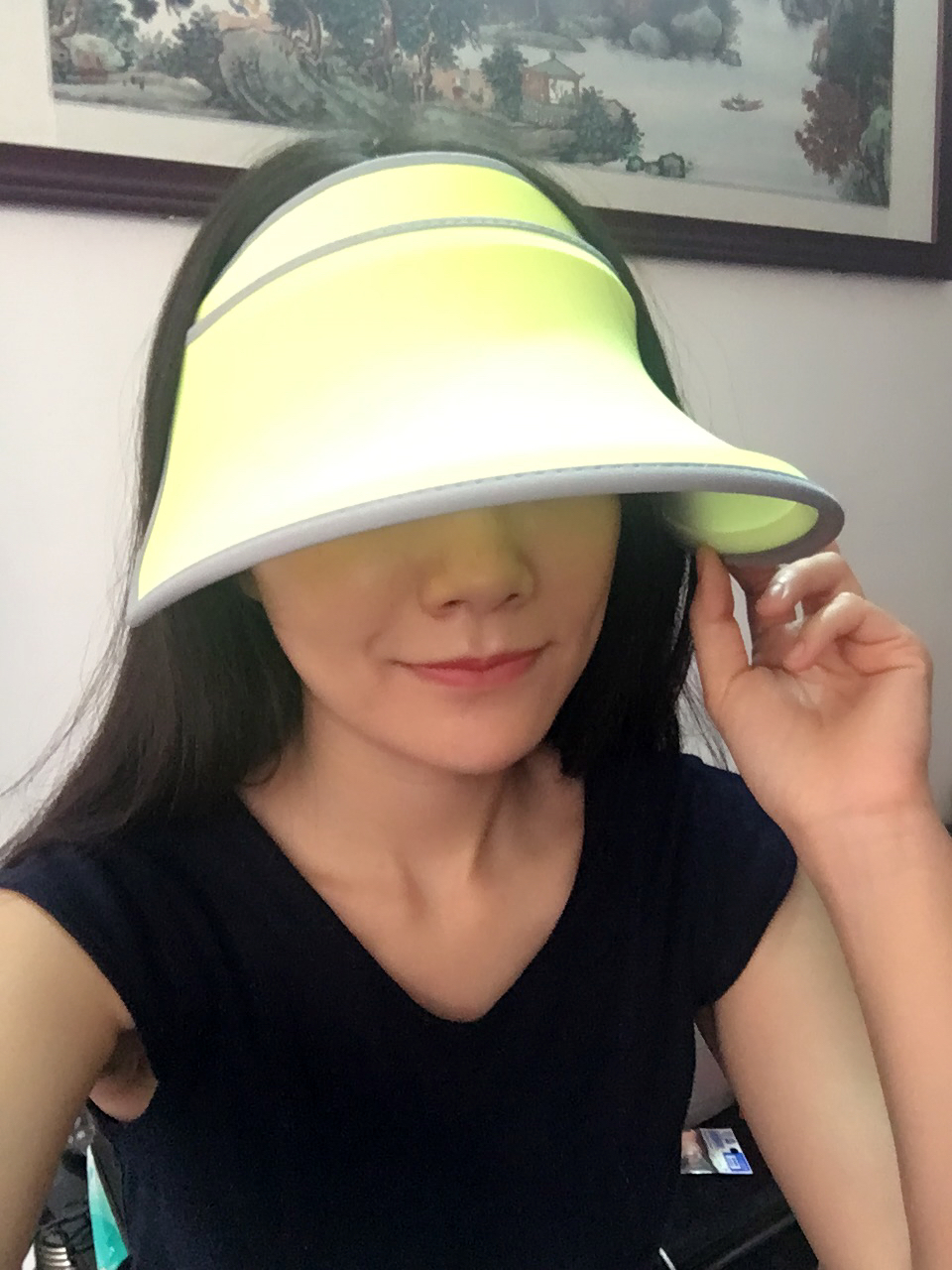 b03ef38a2a3 Can direct the mandate of the Taiwan sunsoul benefits hoii Fan Bingbing  whitening sun hat cap phototherapy skin expansion   ring