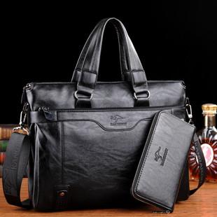 袋鼠男士手提包公文包